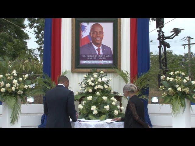 Musée du Panthéon national haïtien (MUPANAH) Cérémonie d'hommage en mémoire du Président Moïse
