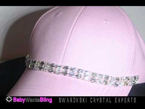 swarovski-crystal-rhinestone-double-chain-pink-bling-ladies-fashion-cap-hat