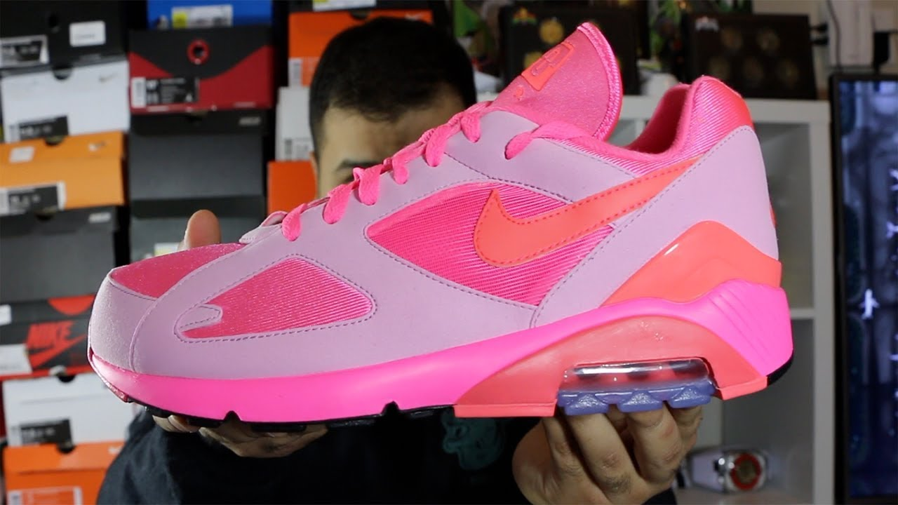 Nike X CDG Air Max 180 Laser Pink Review!