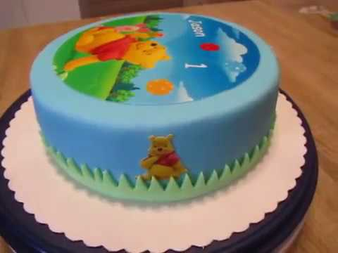 winnie pooh aufleger fondant torte 1 geburtstag youtube. Black Bedroom Furniture Sets. Home Design Ideas