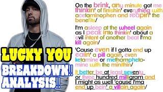 Eminem Lucky You - Lyrics/Rhymes BREAKDOWN! ANALYSIS! REACTION