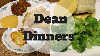 DEAN DINNERS || What's For Dinner || Healthier Eating