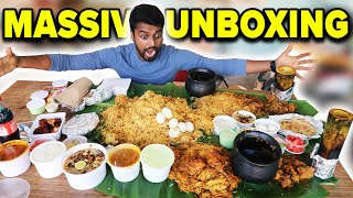 UNBOXING !! BIGGEST COMBO EVER !! Hot Pot Briyani & Spicy Bamboo Chicken | Rasavid Restaurant