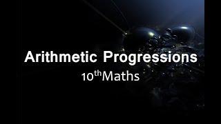 Arithmetic Progressions : CBSE Class 10 X  Maths