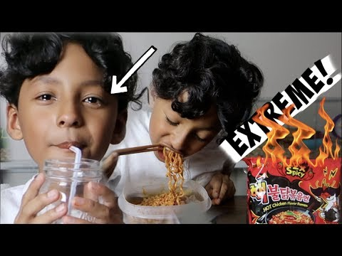 2X HOT SPICY FIRE NOODLE CHALLENGE