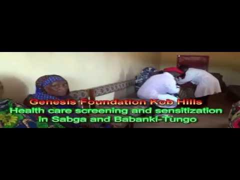 Free health screening in the Sabga and Babanki areas of Cameroon