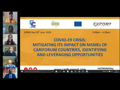 COVID 19 Crisis: Mitigating its Impact on MSMEs of CARIFORUM Countries
