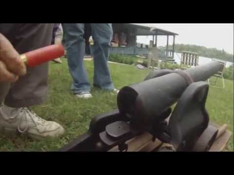 Firing a 1908 Winchester Signal Cannon 10ga