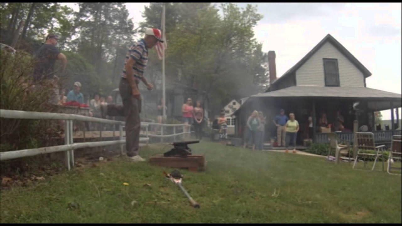 Firing a 1908 Winchester Signal Cannon 10ga - YouTube
