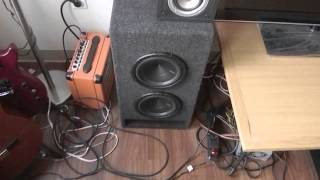 2 Hertz Energy 8 inch Subwoofers Custom Box Build