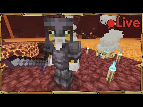 Relearning Minecraft – Nether update – 🔴 Live