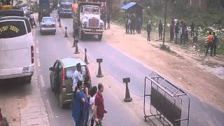 Earthquake in Nepal 2015 CCTV footagee