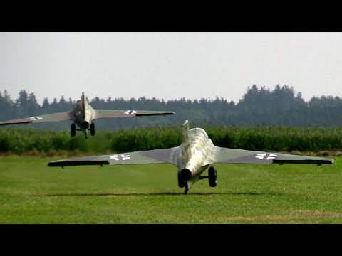 Giant Me163 Formation Flight