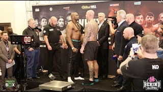 INTENSE STARE DOWN! DILLIAN WHYTE AND LUCAS BROWNE WEIGH IN + FACE OFF