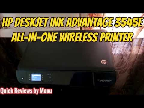 HP 3545 Ink Advantage Printer - Sample print speeds - Black, Color, Duplex