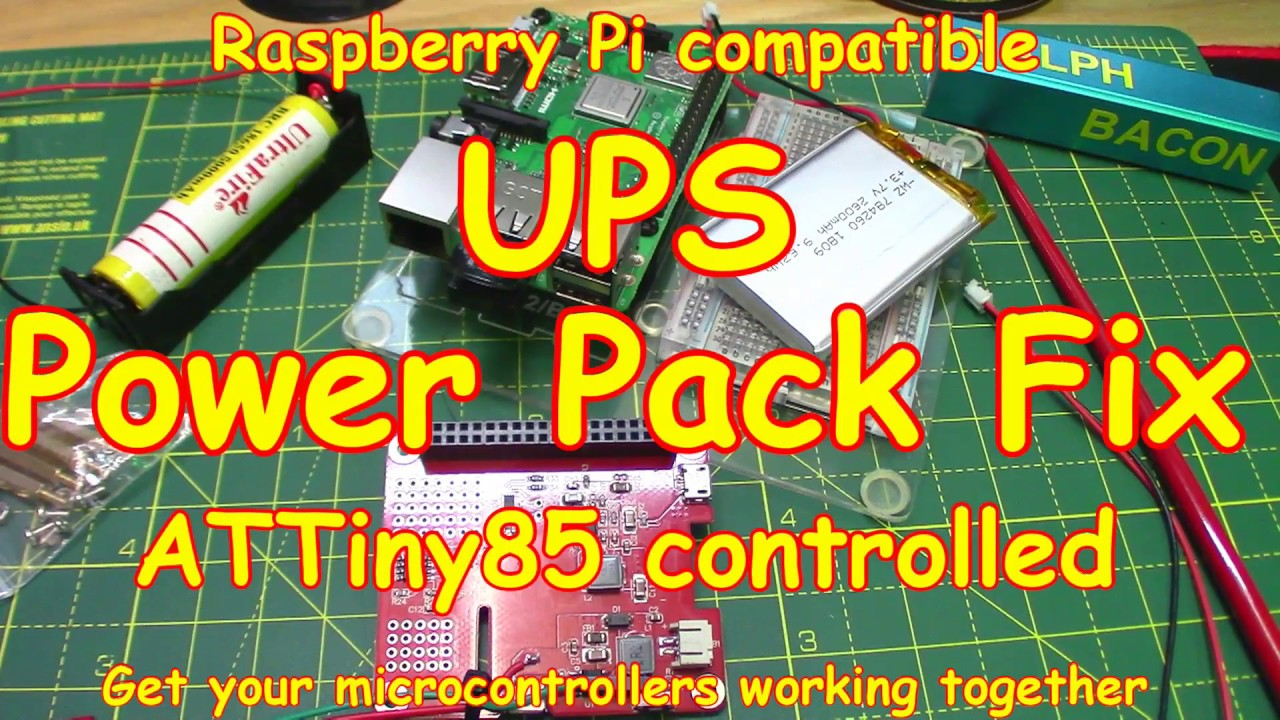 124 Raspberry Pi Ups Fix With An Attiny85 Control Easy Youtube Solar Circuit Diagram