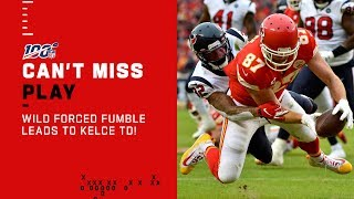 Chiefs WILD Forced Fumble Leads to Kelce TD!