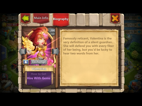 Castle Clash | Update 1.2.82 | Hero Valentina, Achievements
