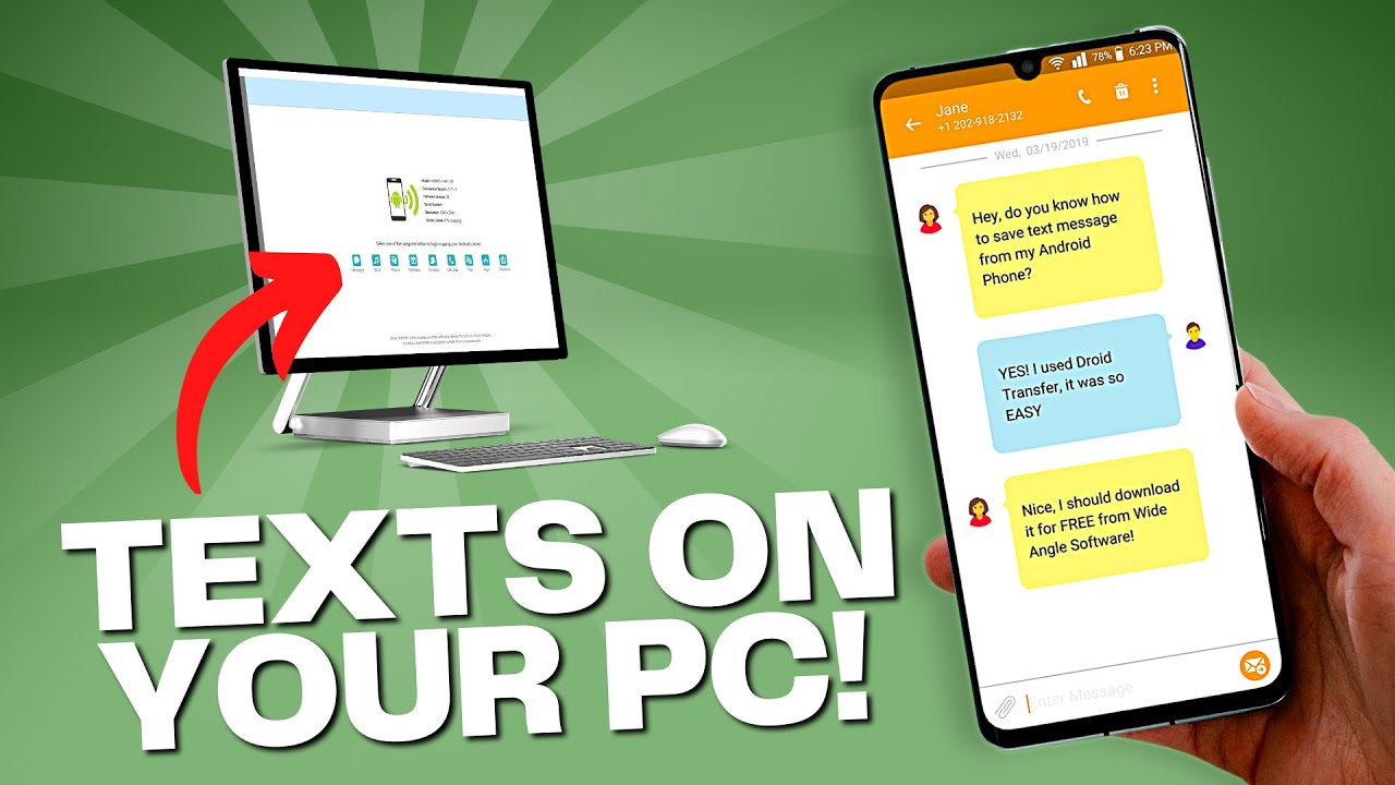 Transfer Text Messages From Android To Computer Youtube