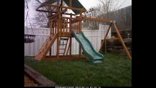 Building Gorilla Playsets Playground - Time Lapse - Day 2
