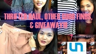 THRIFTED HAUL, OTHER GOOD FINDS, & GIVEAWAY!!!! (CLOSED) Thumbnail