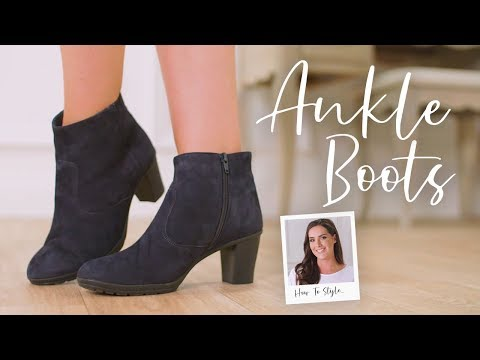 How to Style Heeled Ankle Boots