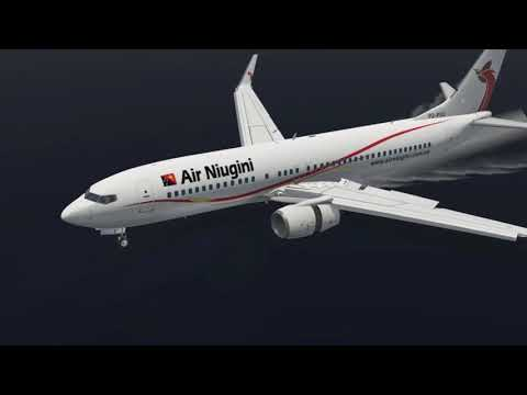 Plane Crash In Micronesia, Air Niugini Boeing 737 Sinks in Water [XP11]