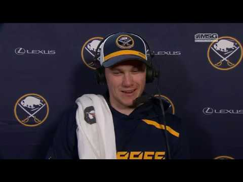 Hat-Trick Hero Jeff Skinner Reacts After Win in LA | Buffalo Sabres | MSG Networks