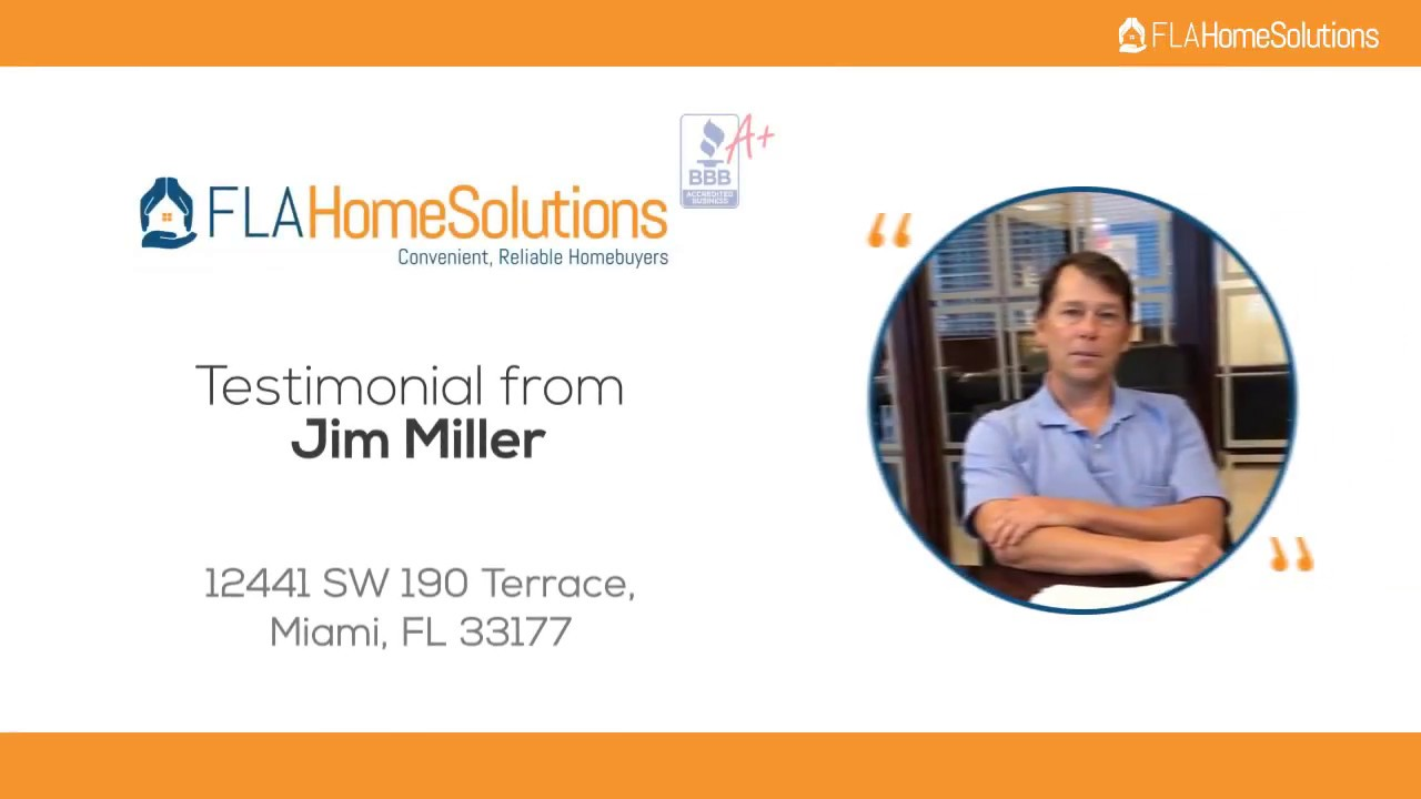 Visit www.FLAHomeSolutions.com or Call 305-602-4105 - Jim's Testimonial for Creative RE-Solutions