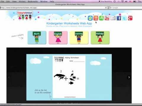 Free Kindergarten Web App