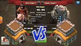II Clash Of Clans I Elite Eight Vs Family Eight I Th8 War Recap II Goho Strategy II