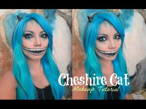 Freaky Cheshire Cat Makeup Tutorial Halloween 2014 Youtube