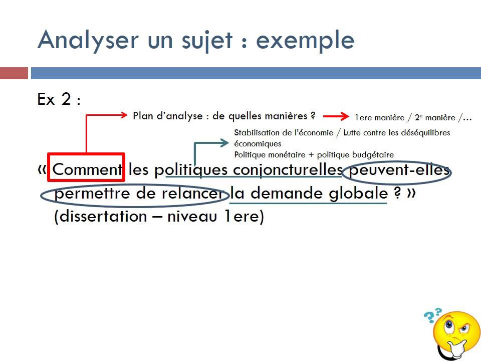 Comment amener un sujet de dissertation