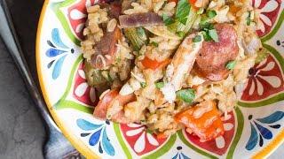 Easy Sausage &amp Crab Jambalaya recipe - SAM THE COOKING GUY