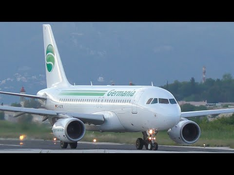 Germania Airbus A319 Takeoff from Corfu CFU