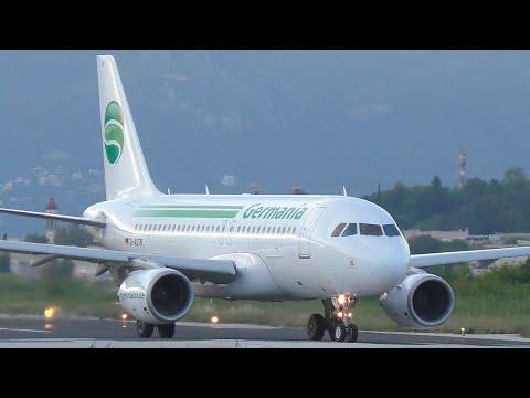 Germania Airbus A319 Takeoff from Corfu CFU