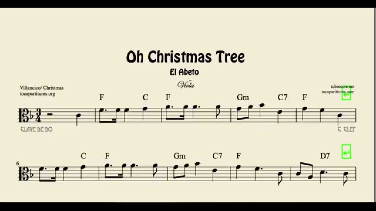 Oh Christmas Tree Sheet Music for Viola El Abeto Sheet Music with ...