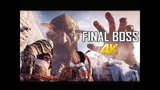 GOD OF WAR Gameplay Walkthrough Part 48 - FINAL BOSS (PS4 PRO 4K Commentary 2018)