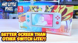 Pokemon Zacian and Zamazenta Edition Nintendo Switch Lite Has A Better Screen?