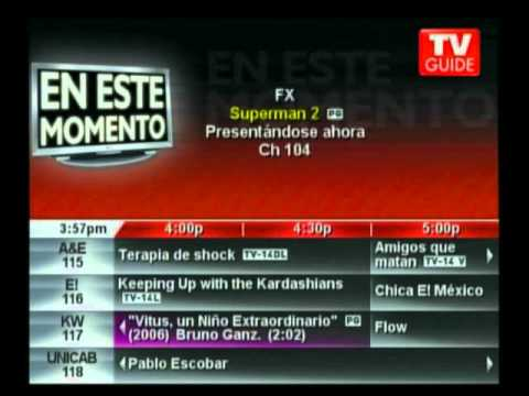 TV Guide EPG (Megacable Mexico) August 23rd, 2014