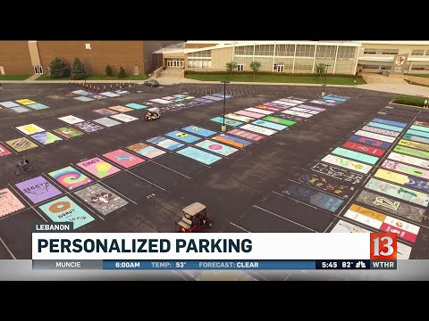 Lebanon parking lot paint job