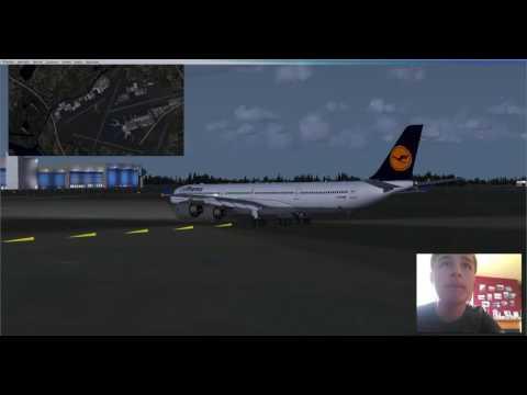 FSX: Schipol to Dublin in an A340