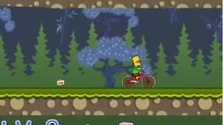 Бесплатные игры онлайн  велосипед симпсонов, барт симпсон, гонки, игра для детей