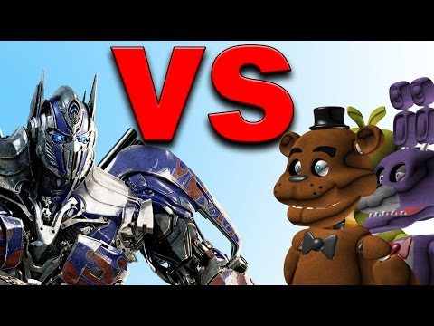 Optimus Prime VS Five nights at Freddy's