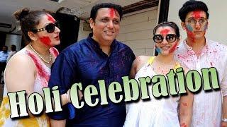 Govinda Celebrate HOLI With Daughter Tina Ahuja & Family !!