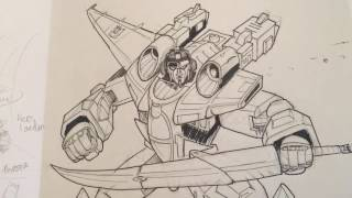 Drawing a transformers Comic