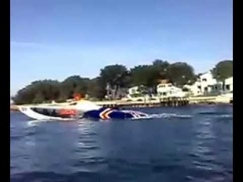 Richard Carr's Honeyparty powerboat is trialed in Poole