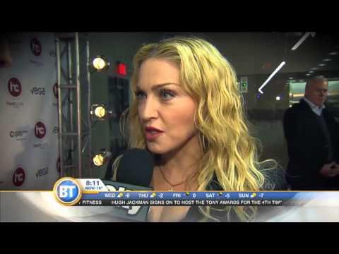Entertainment City: Madonna Dishes Fitness