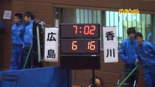 H25 第22回 JOCジュニアオリンピックカップ ハンドボール大会 香川VS広島(ダイジェスト)(女子予選リーグ)