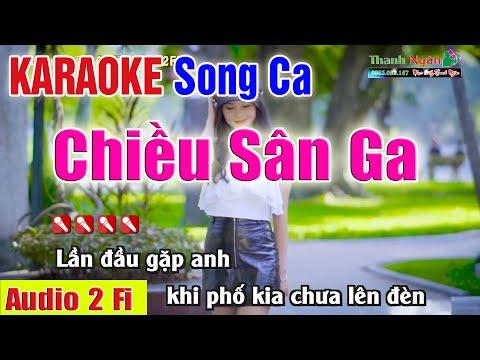 Chiều Sân Ga Karaoke Song Ca | Âm Thanh Tách Nhạc 2Fi  - Nhạc Sống Thanh Ngân